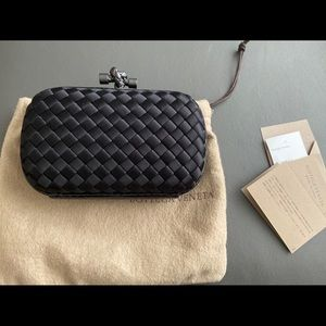 Bottega Veneta black clutch bag